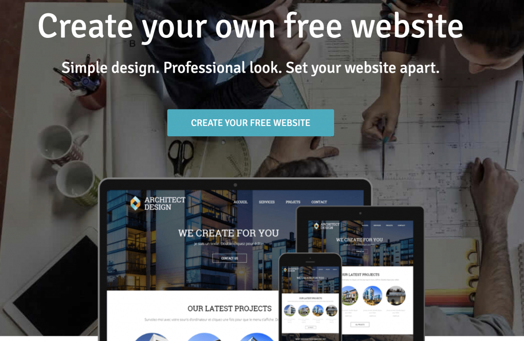 build a website for free with webself